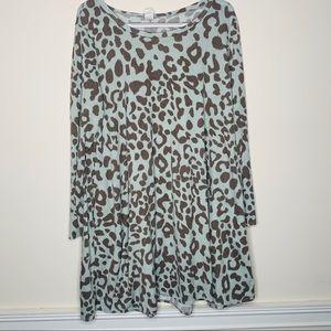 Dresses & Skirts - Animal Print Long Sleeve Trapeze Dress 3xl